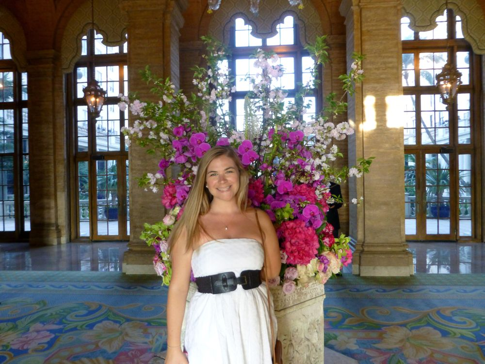 Kate in Lobby at The Breakers, West Palm Beach, Florida, USA