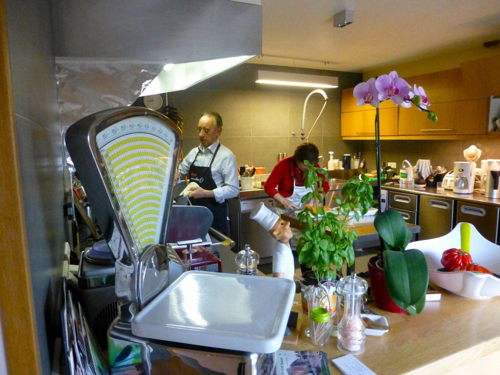 Kitchen at Le Crot Foulot, Chambres d'Hôtes de Charme. Chalon-sur-Saone, Burgandy, France