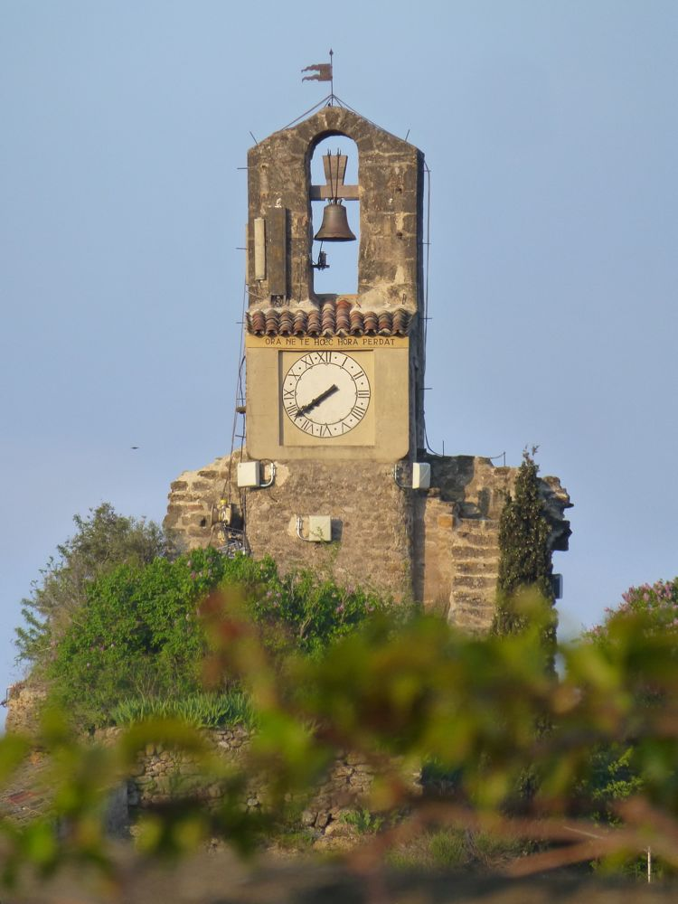 Lourmarin clocktower, early morning, The Luberon Valley, Provence, France
