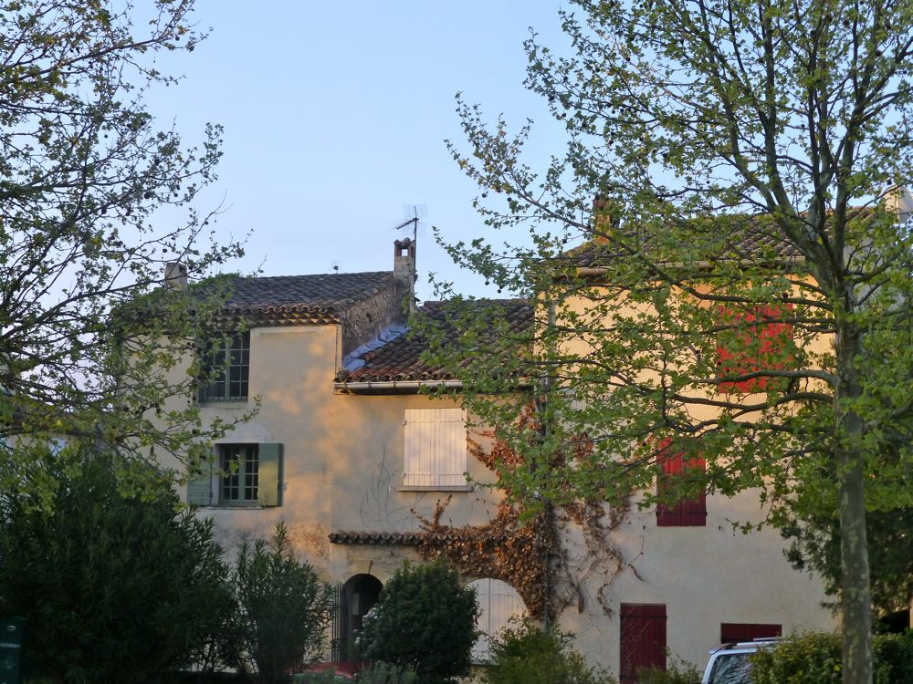 Lourmarin homes in early morning