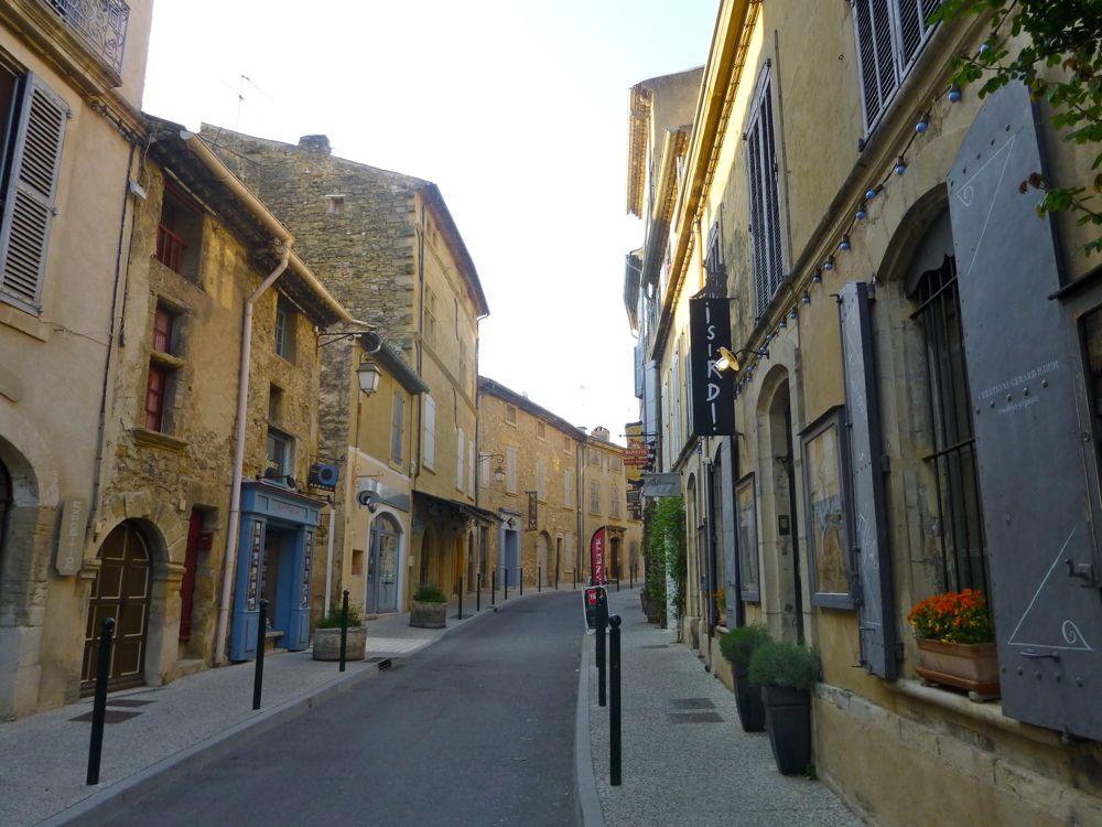Lourmarin, Luberon, France, street early morning