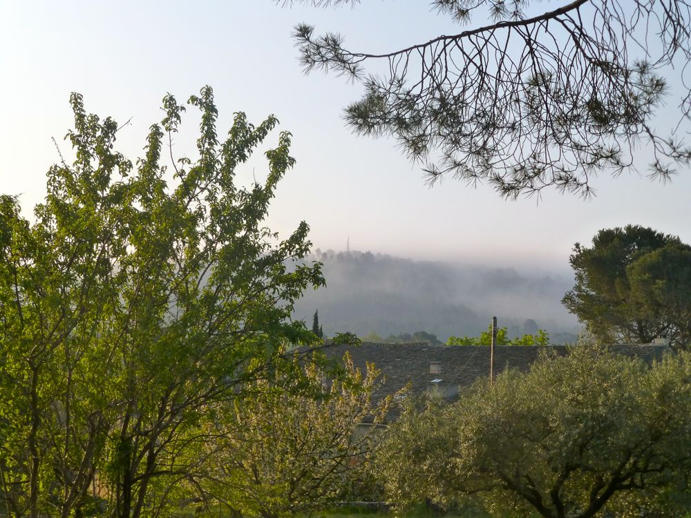 Morning mist in Lourmarin, The Luberon Valley, Provence, France