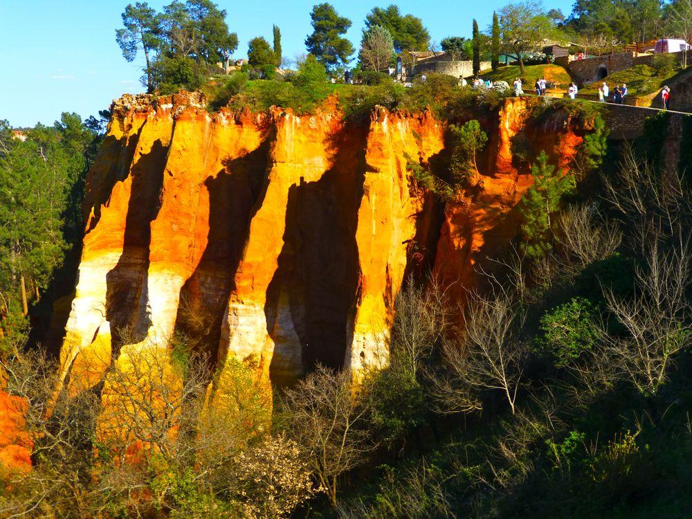 Ocher Gorge in Rousillon, Luberon, Provence