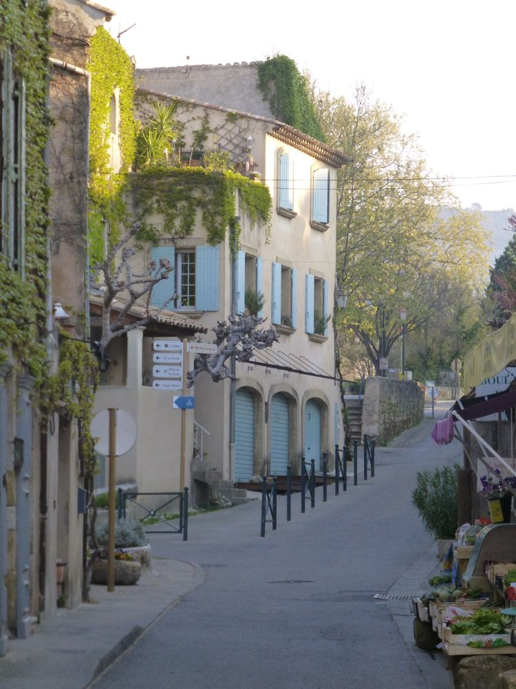 On Lourmarin streets, Luberon, Provence, France, early morning