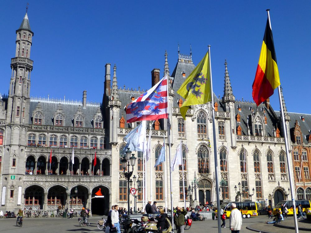 Provincial Court in the Grote Markt, Bruges, Belguim