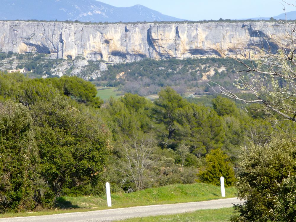 Rock escarpment, Luberon, Provence, France