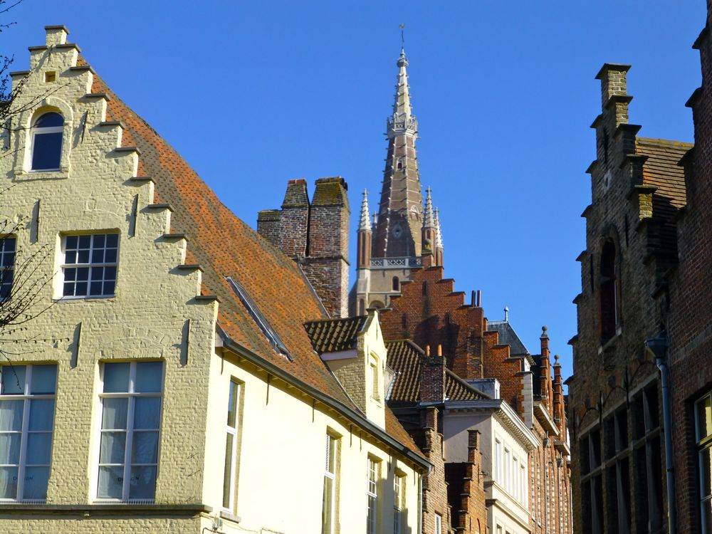 Roof tops of Bruges, Belgium