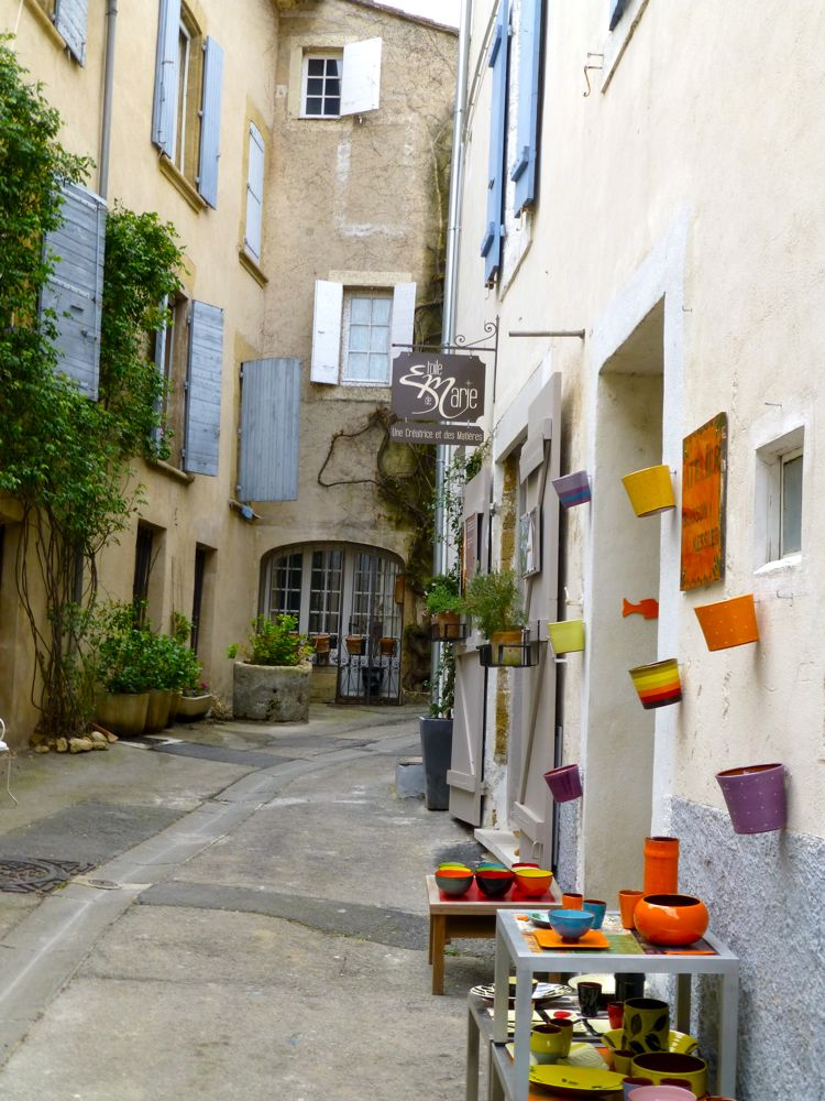Streets in Lourmarin, Provence, France