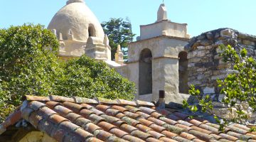 The clay tile roof by Carmel Mission, Carmel, California, USA