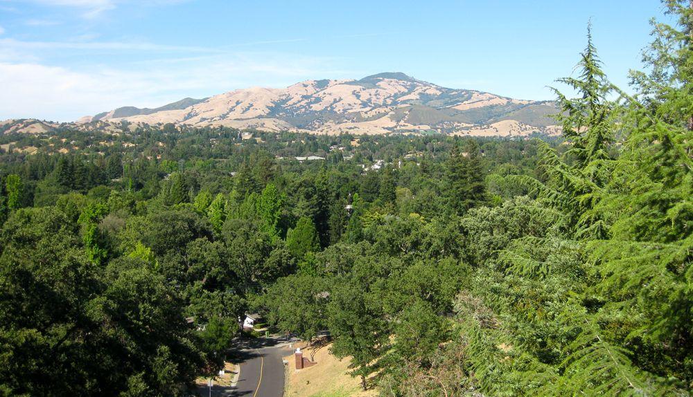 Californian view, Mt Diablo, Danville California, USA