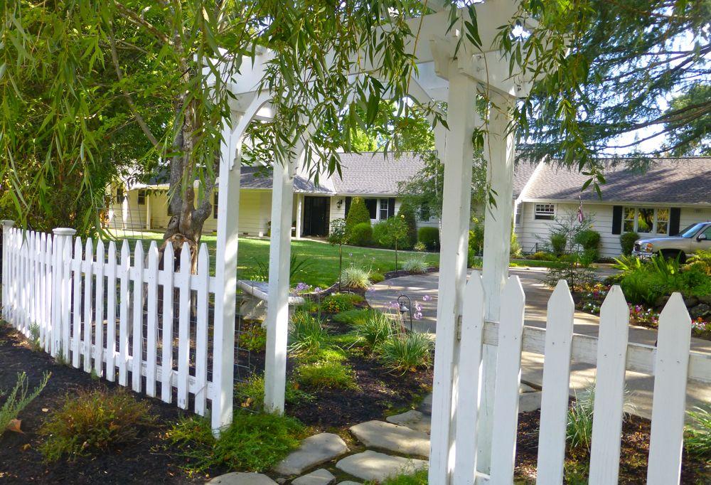 Danville home pathway, Danville, CA, USA