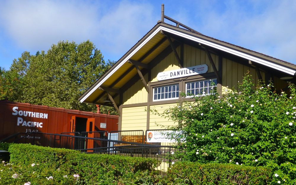 The Old Danville Railway Station, Danville CA USA