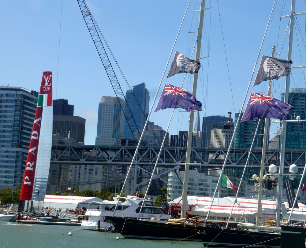 Victorious Luna Rossa docked @ America's Cup 2013
