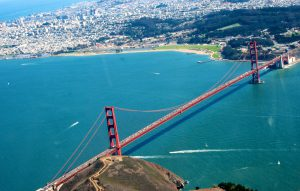 Above The Golden Gate Bridge, San Francisco
