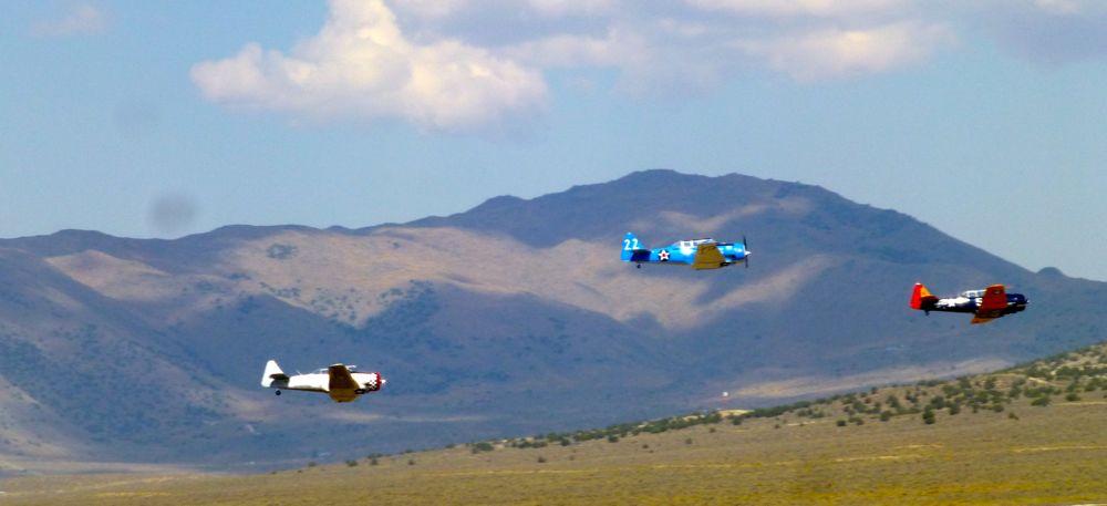 Harvards competing at Reno Air Races
