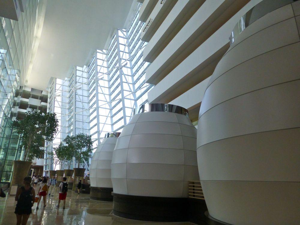 Giant chinese lanterns at Marina Bay Sands Singapore