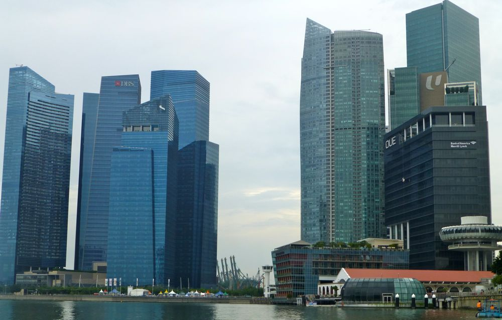 Skyscrapers in Singapore at Marina Bay