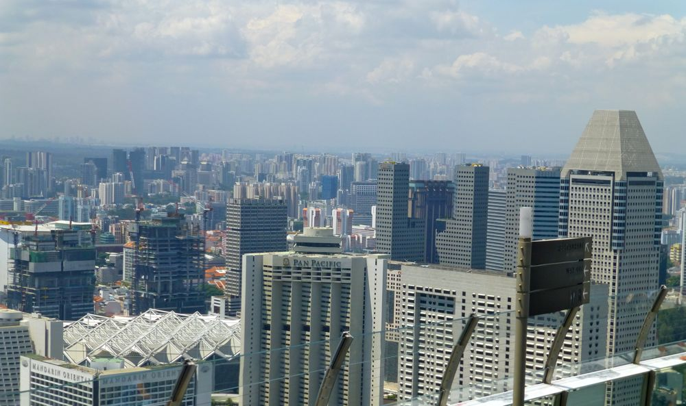 View from Skypark at Marina Bay Sands Singapore