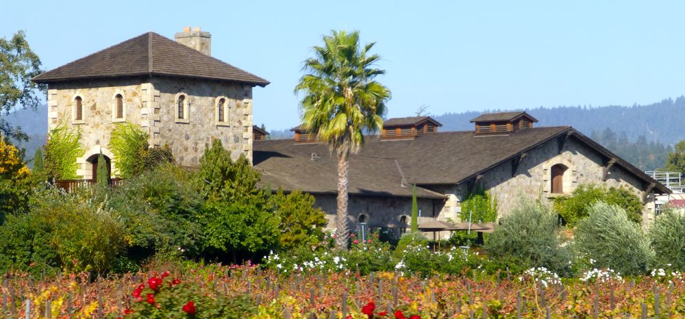 A beautiful Californian Napa Valley Winery in the Fall