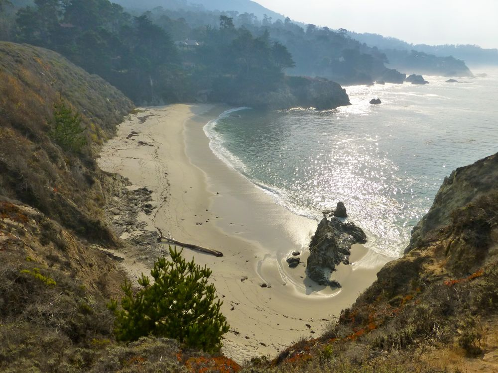 The private beach near Bird Island Point Lobos Carmel. California, USA