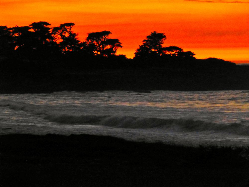 Cypress Point, 17 mile Drive at sunset, Carmel, California, USA