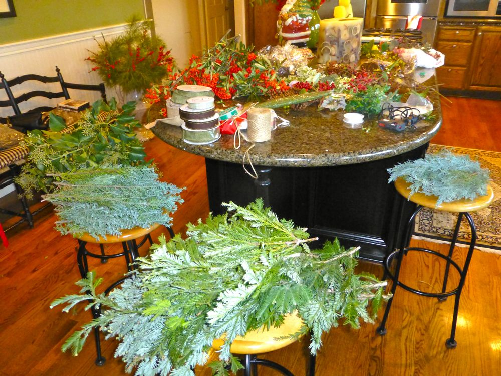 Christmas Wreath making supplies