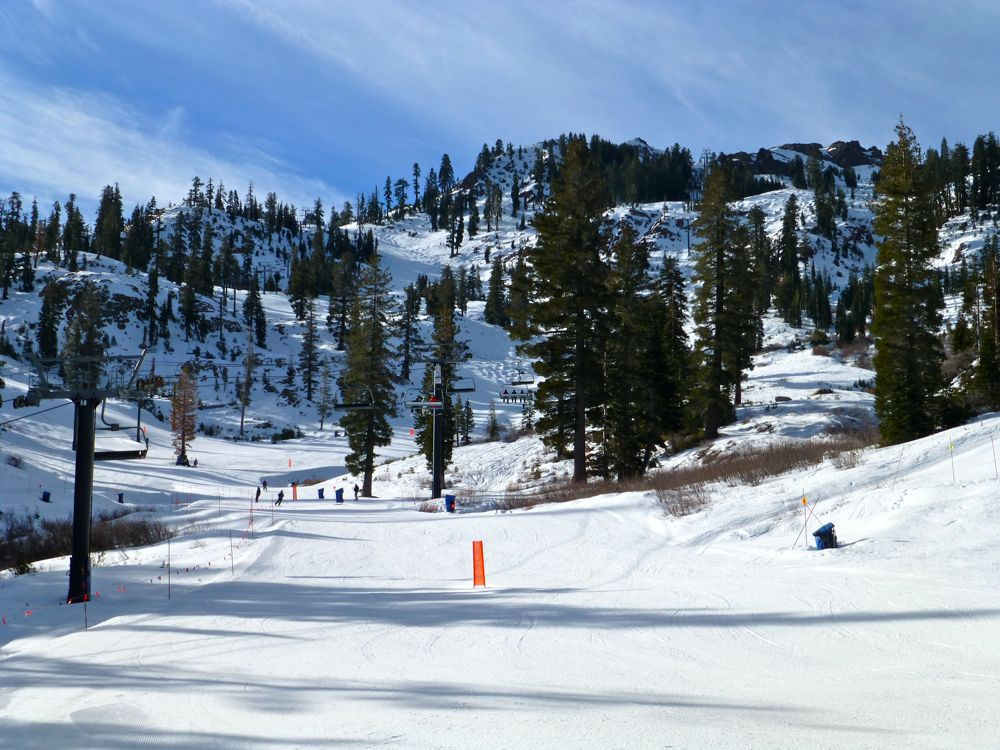 Slopes of Alpine Meadows, Lake Tahoe, California, USA