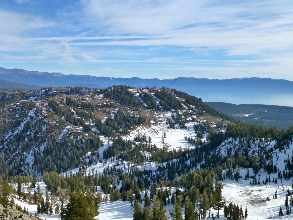 View at the summit, Alpine Meadows, Lake Tahoe, California