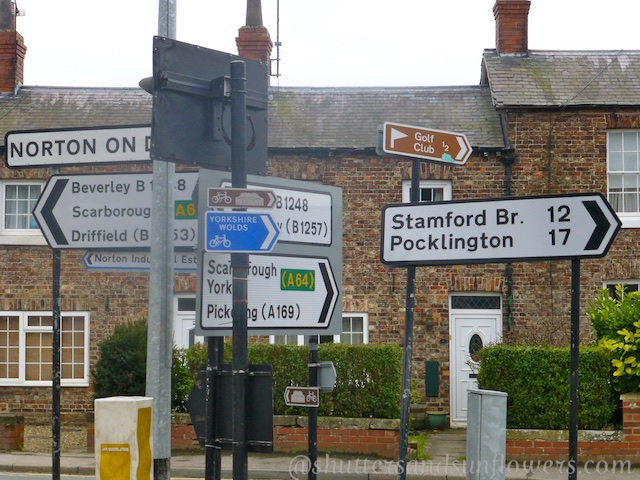 Yorkshire road sign posts