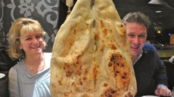 Indian Naan bread in Bradford, England