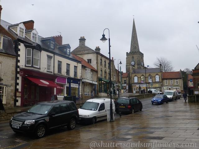 Pickering High Street, North Yorkshire, UK