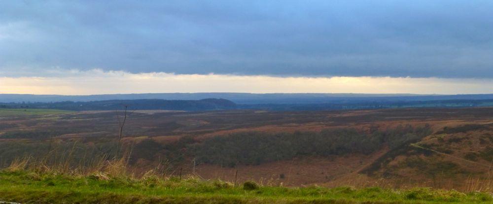 Rain over N Yorkshire Moors, Whitby, North Yorkshire, UK