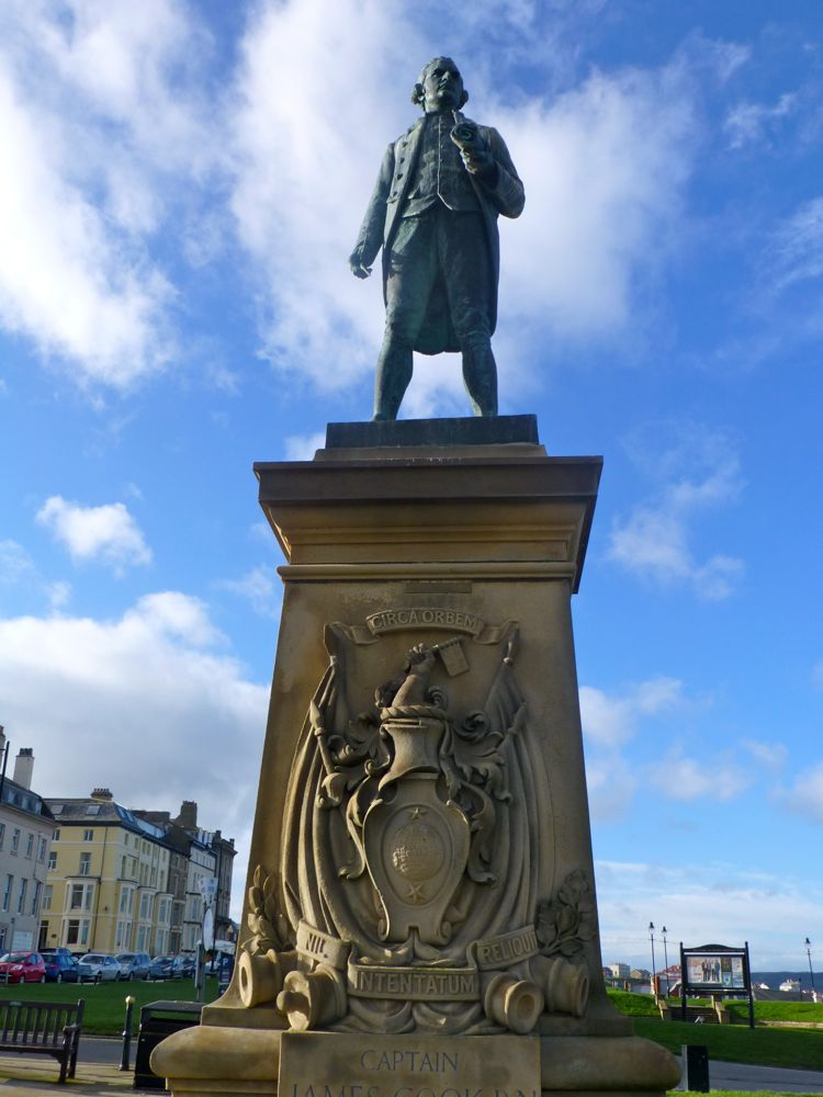 The Captain Cook Statue, Whitby, North Yorkshire, UK