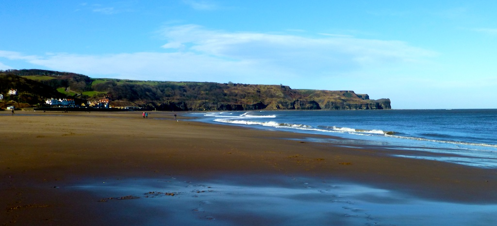 The beach at Whitby, North Yorkshire, UK