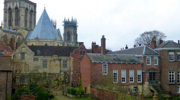 York Minster from City wall, York, England
