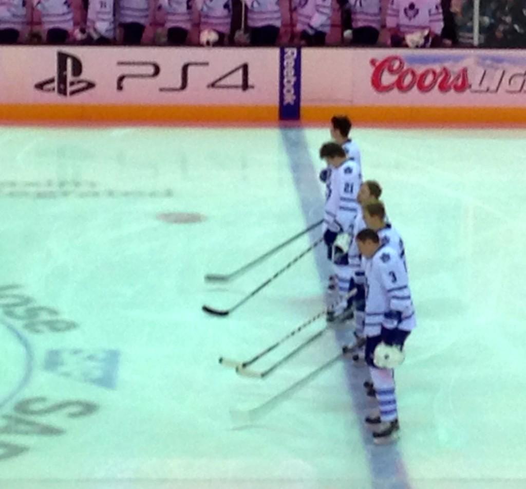Toronto Maple Leaf Team at the Sharks Stadium San Jose California, USA