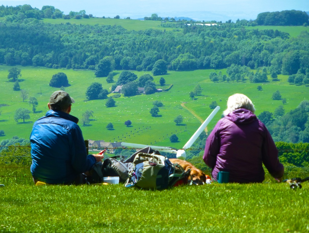 Brits picnicking in the Cotswolds