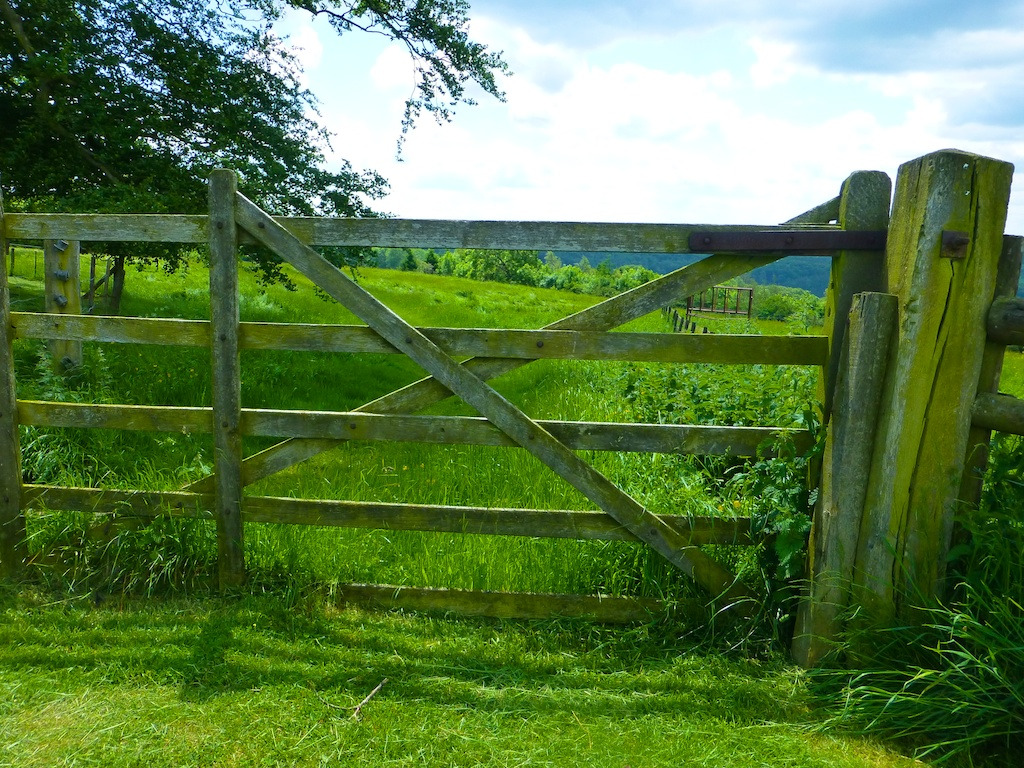 English Farm gate in the Cotswolds near Broadway