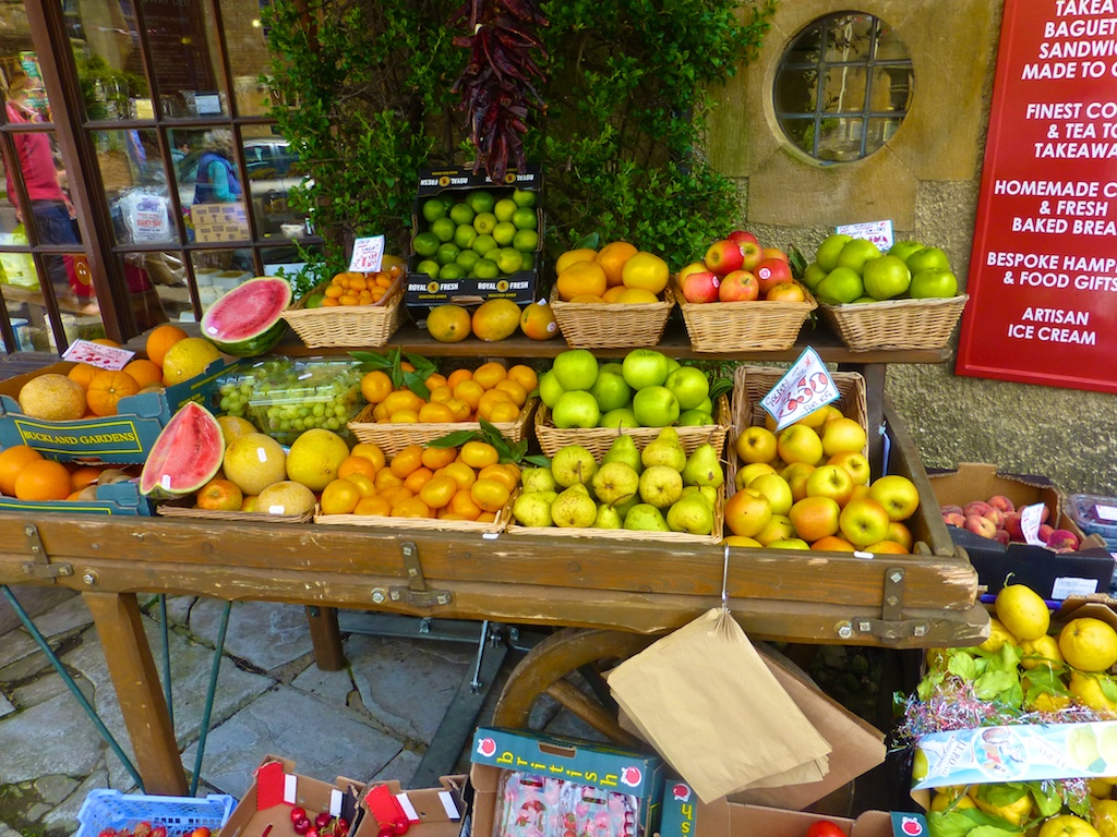 Fruit at the Deli in Broadway in the Cotswolds