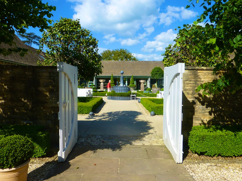 Garden entrance at Daylesford Barns in the Cotswolds