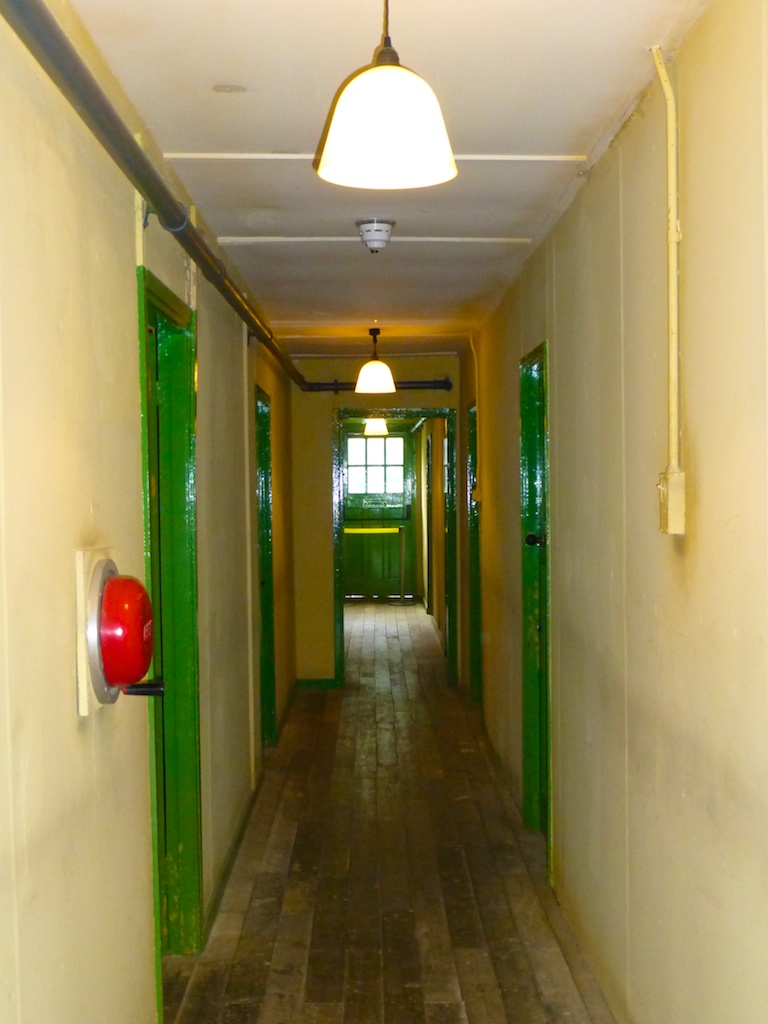 Inside a World War II hut at Bletchley Park, England