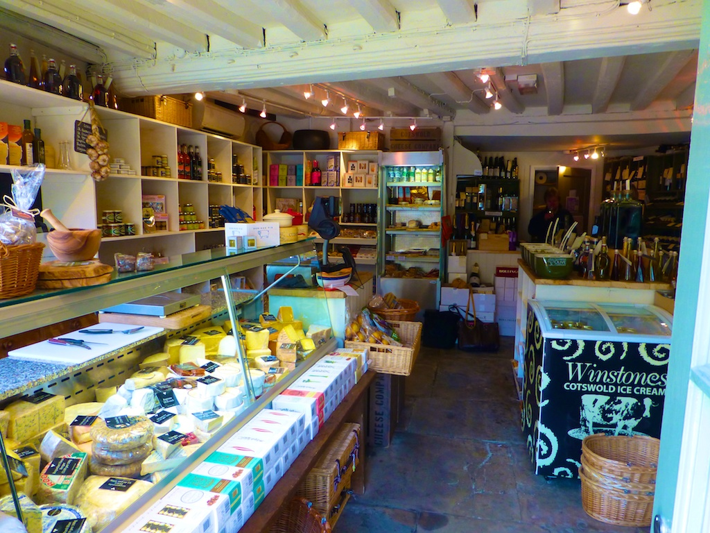 Inside the Cotswolds Cheese shop in Chipping Campden, England