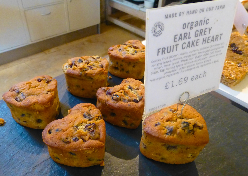 Little cakes at Daylesford Barns in the Cotswolds