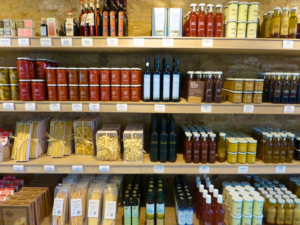 Preserves & sauces at Daylesford Barns in the Cotswolds