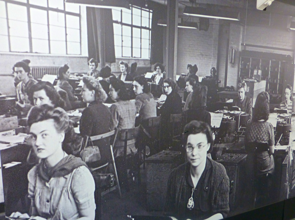 Women at work at Bletchley Park