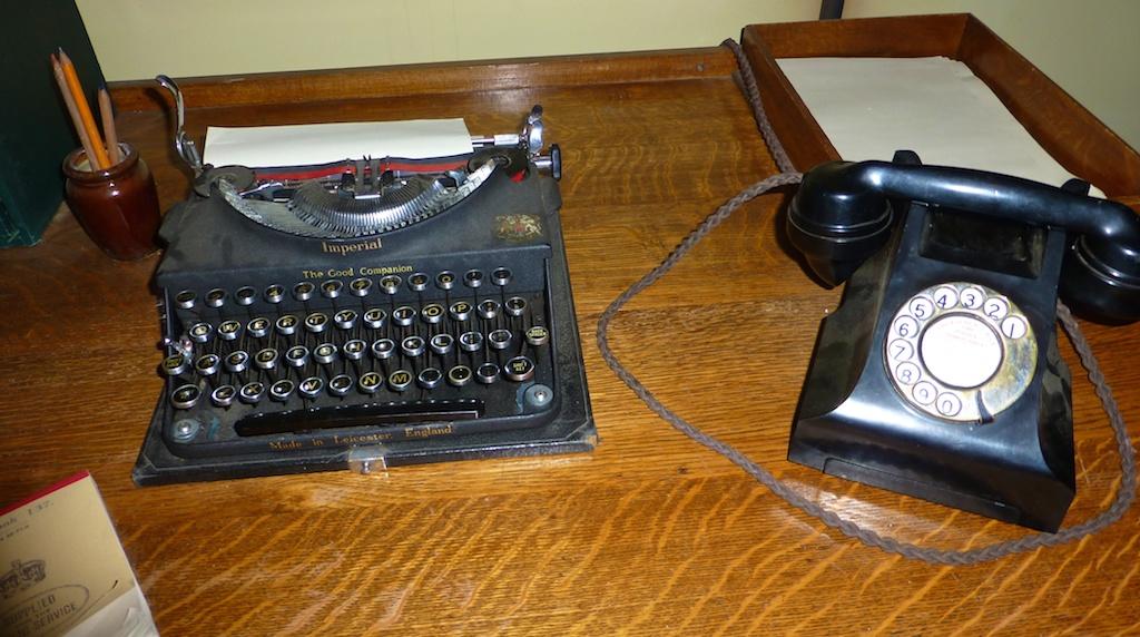 World War II desk at Bletchley Park, England