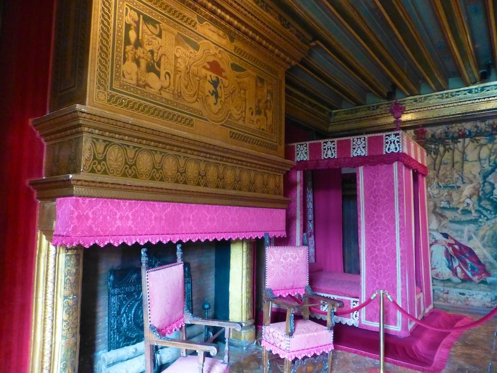 Bedroom inside Chateau de Chenonceau, Loire Valley, France