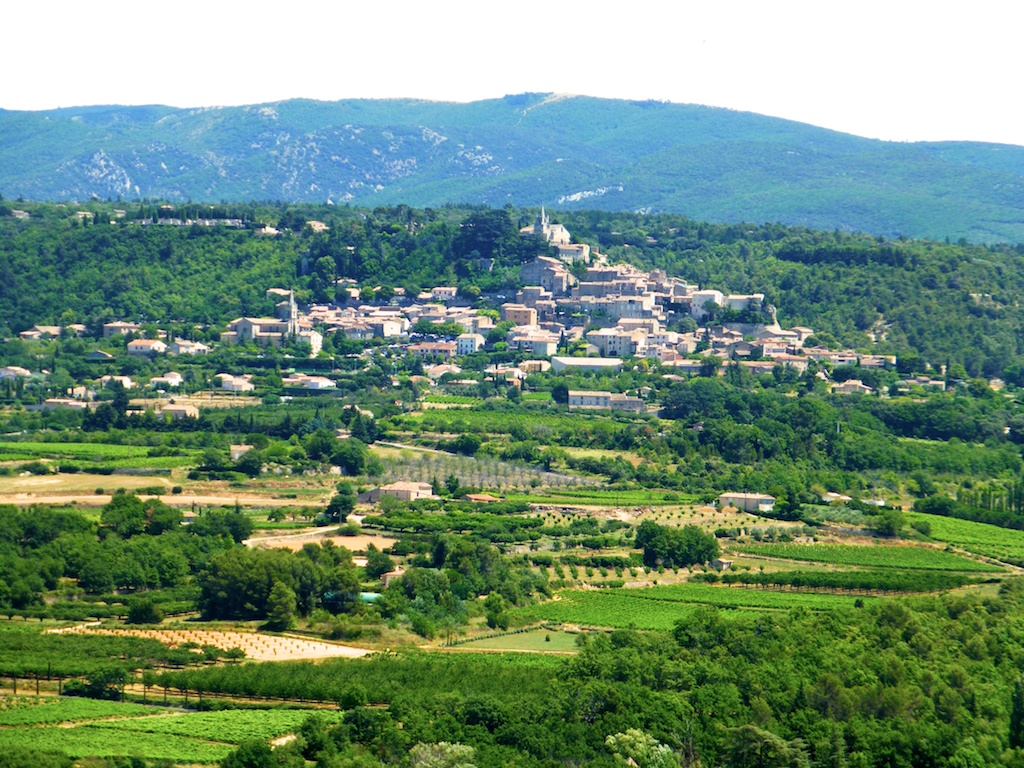 Bonnieux across the vineyards, Provence, France