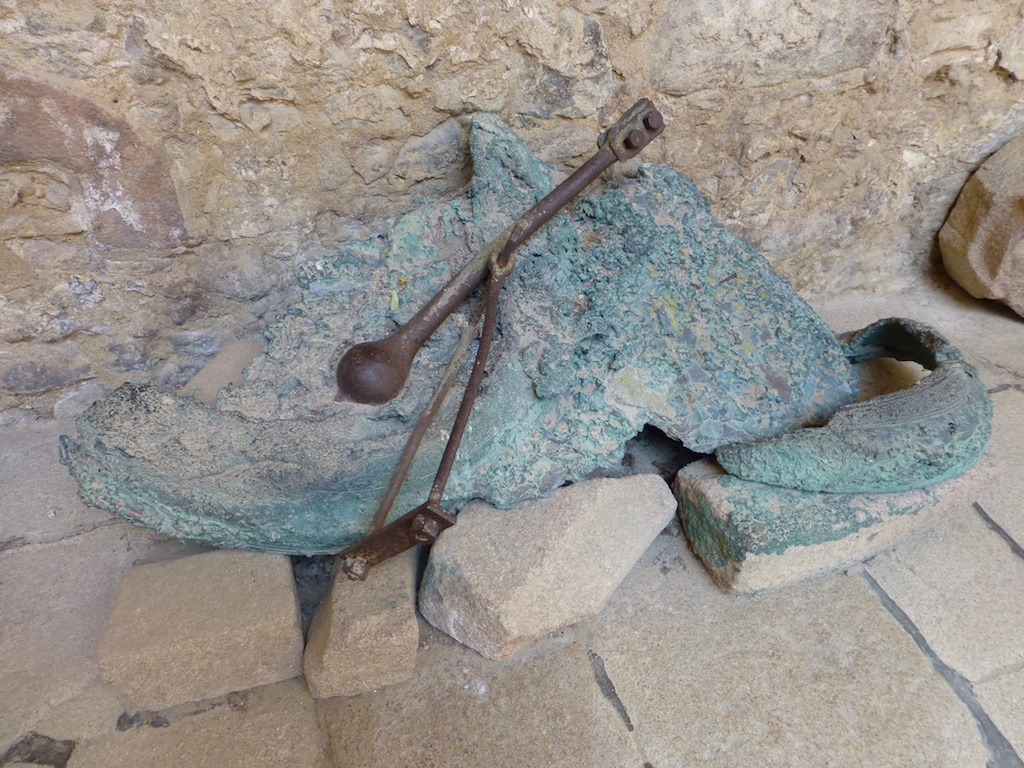 Church bell, destroyed in Oradour, France