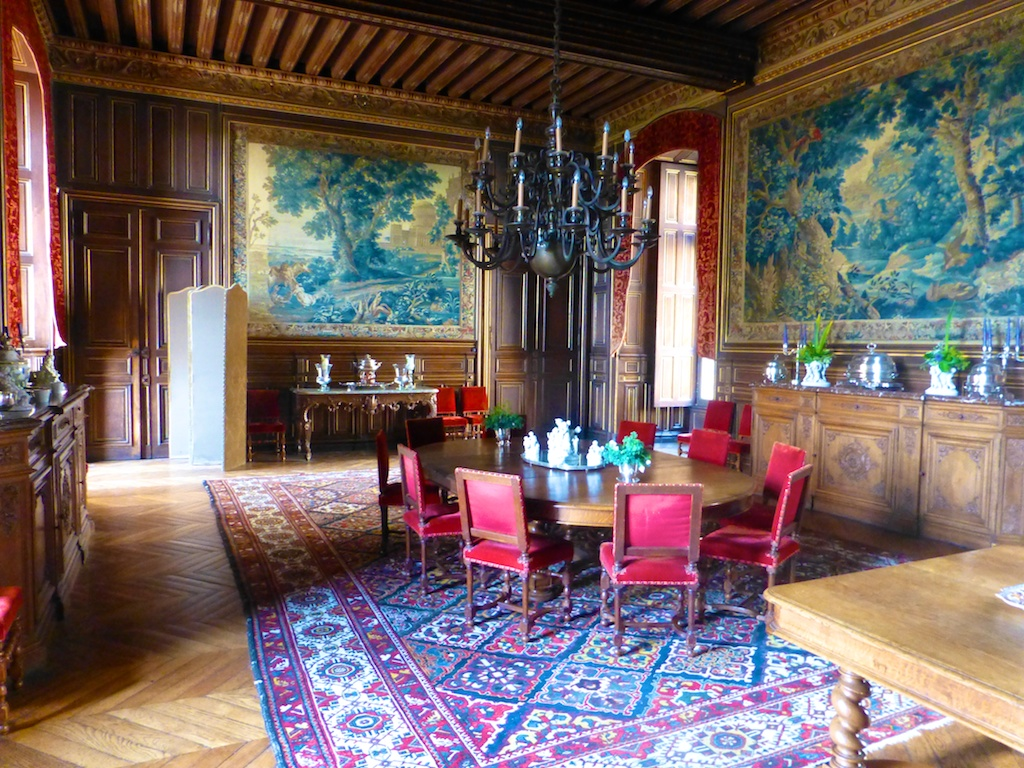 Dining room at Chateau Le Lude
